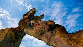 Dos dinosaurios Fotografía de archivo libre de regalías