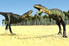 Dos dinosaurios Imágenes de archivo libres de regalías