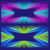 Dos diseños abstractos del modelo ilustración del vector