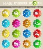 Dos dispositivos ícones simplesmente Fotografia de Stock