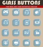 Dos dispositivos ícones simplesmente Foto de Stock Royalty Free