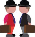 Dos diversas personas distintas hacerse frente libre illustration