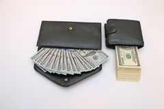 Dos diversos monederos Imágenes de archivo libres de regalías