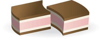 Dos dulces del chocolate Imagen de archivo libre de regalías