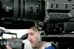Dos dv-videocámaras Fotos de archivo libres de regalías