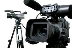 Dos dv-videocámaras Fotografía de archivo libre de regalías