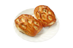 Dos empanadas frescas deliciosas con requesón Imagen de archivo libre de regalías