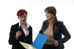 Dos empresarias Foto de archivo libre de regalías