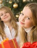 Dos encantadores, muchachas del pelo rubio Fotografía de archivo libre de regalías