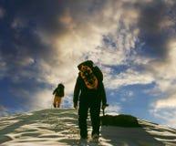 Dos escaladores foto de archivo