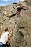 Dos escaladores Imagenes de archivo