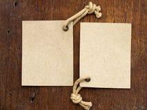 Dos escrituras de la etiqueta Imagen de archivo