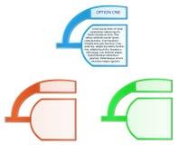 Dos escrituras de la etiqueta unidas - tres colores Imagen de archivo libre de regalías