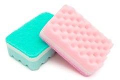 Dos esponjas de limpieza Fotografía de archivo