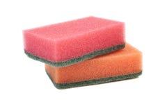 Dos esponjas de limpieza Imagenes de archivo
