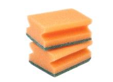 Dos esponjas de limpieza Foto de archivo libre de regalías