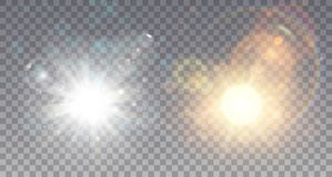Dos estrellas de estallido blancas y coloridas stock de ilustración