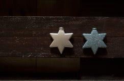Dos estrellas de Xmass Imagenes de archivo