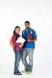 Dos estudiantes derechos - vertical Fotos de archivo libres de regalías