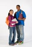 Dos estudiantes felices - vertical Imagen de archivo