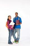 Dos estudiantes felices - vertical Fotos de archivo