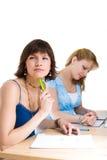 Dos estudiantes femeninos Imagenes de archivo