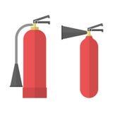 Dos extintores Foto de archivo libre de regalías