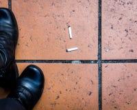 Dos extremos de cigarrillo Imagen de archivo