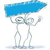 Dos figuras del palillo con una muestra stock de ilustración