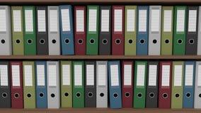 Dos filas de diversas carpetas, cgi Fotos de archivo libres de regalías