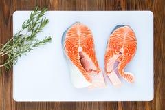 Dos filetes de salmones Imagen de archivo libre de regalías