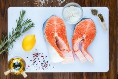 Dos filetes de salmones Fotografía de archivo libre de regalías