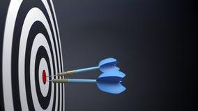 dos flechas típicas azules del dardo Fotografía de archivo
