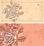 Dos fondos florales Fotos de archivo libres de regalías
