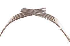 Dos forkes de plata Fotografía de archivo libre de regalías