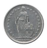 Dos francos de moneda Imagen de archivo