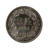 Dos francos franceses Imagenes de archivo