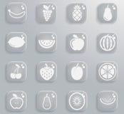 Dos frutos ícones simplesmente Imagens de Stock Royalty Free