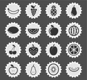 Dos frutos ícones simplesmente Imagens de Stock