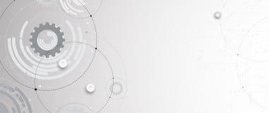 Dos futuriste abstrait de technologie d'Internet d'ordinateur de circuit illustration stock