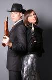 Dos gángsteres Foto de archivo libre de regalías