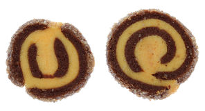 Dos galletas bicolores Foto de archivo libre de regalías