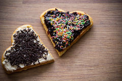 Dos galletas dulces Fotos de archivo