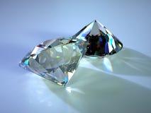 Dos gemas con cáusticos Imágenes de archivo libres de regalías