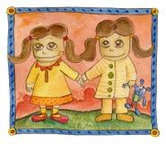 Dos gemelos Imagen de archivo libre de regalías