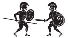 Dos gladiadores Fotos de archivo libres de regalías