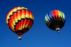 Dos globos del aire caliente Fotos de archivo