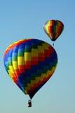 Dos globos del aire caliente Fotografía de archivo