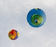 Dos globos del aire caliente Foto de archivo