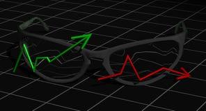 Dos gráficos Ilustración del Vector
